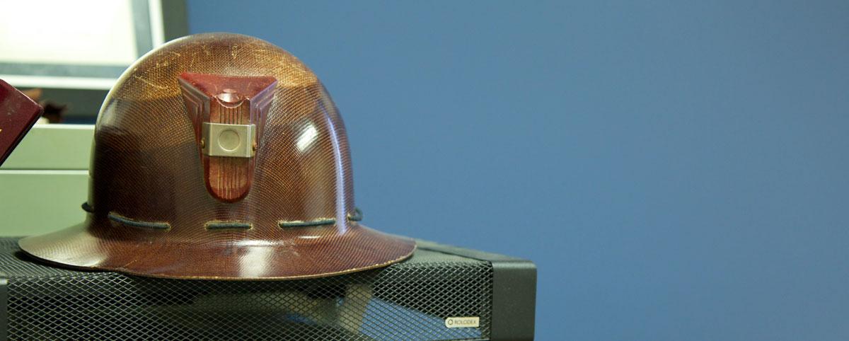 Old Safety Helmet on Rolodex