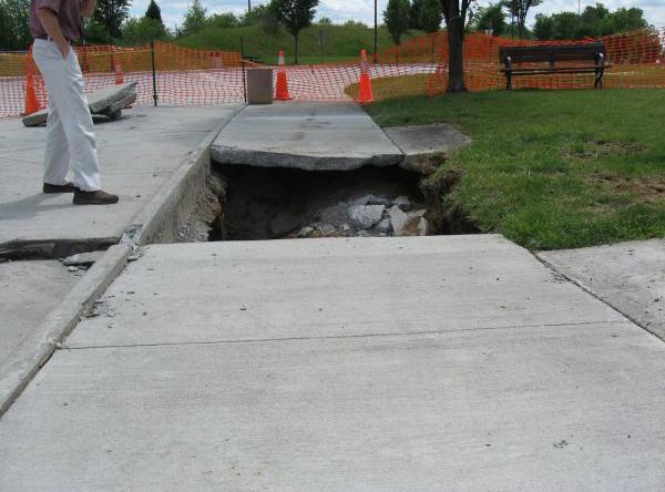 I-81 Truck Rest Area Sinkhole repair