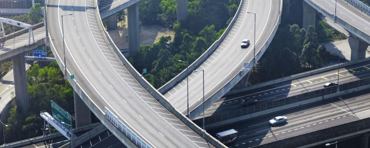 Aerial View of Highway Corridor