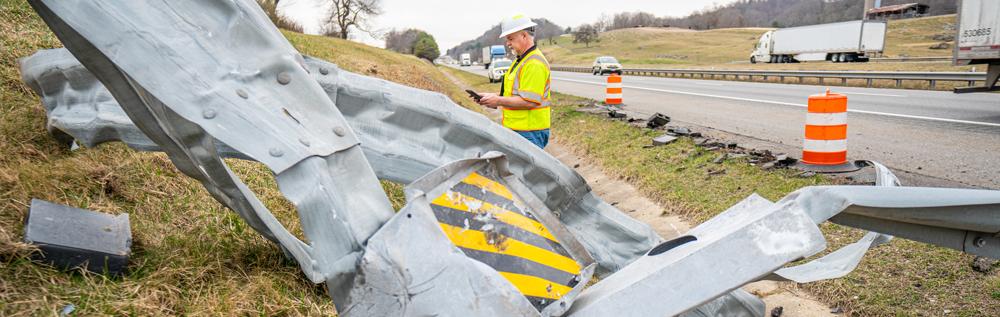 Guardrail Damage Work Zone Safety