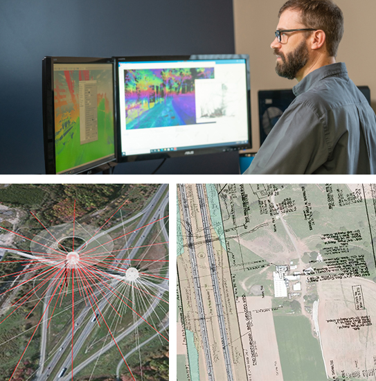 Geospatial mapping collage