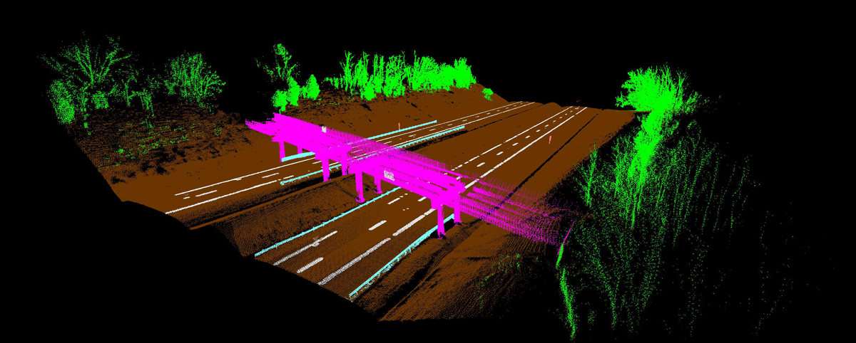 Colored Point Cloud Model of Highway